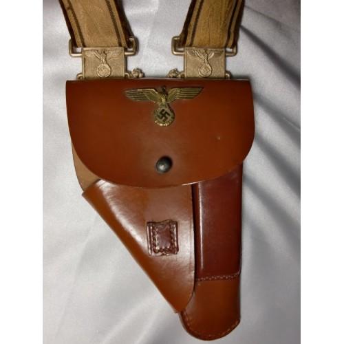 Brocade Dress Pistol Holster Rig  # 1227