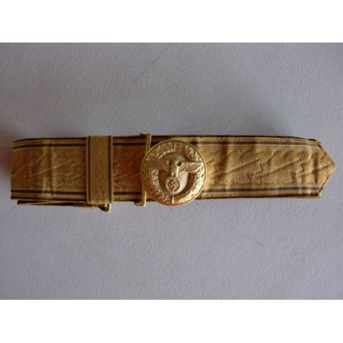 NSDAP Brocade belt and buckle # 1229