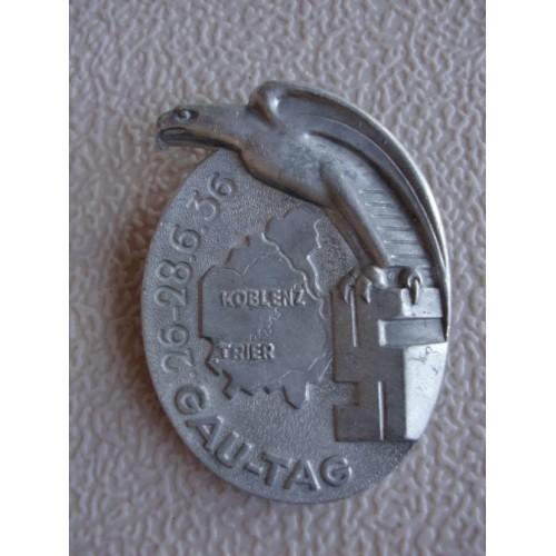 Gau-Tag Koblenz Trier Badge # 1263