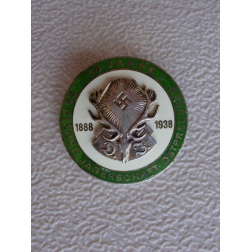 Deutsche Jägerschaft 50 year member badge  # 1290