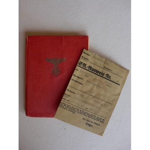 Mitgliedsbuch of the NSDAP / SA Ausweis # 1291