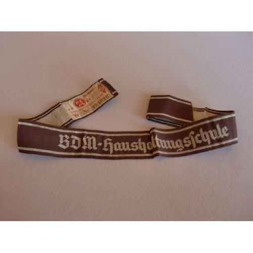 BDM HaushaltungsSchule Cuff Title # 1302