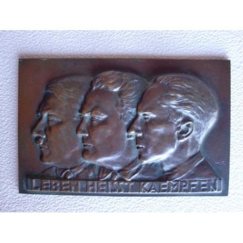 Hitler, Goering, Goebbels Plaque  # 1312