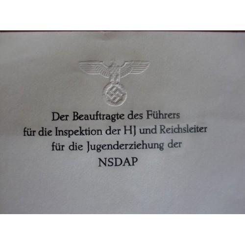 Baldur von Schirach's Stationary # 1356