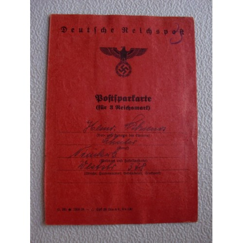 Postal Savings Book # 1362