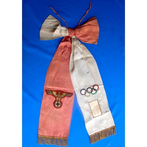 Adolf Hitler Presentation Olympic Sash  # 1377