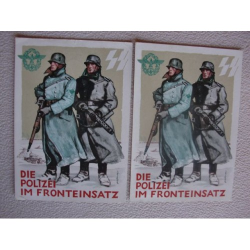 German SS Police Postcard   # 1420