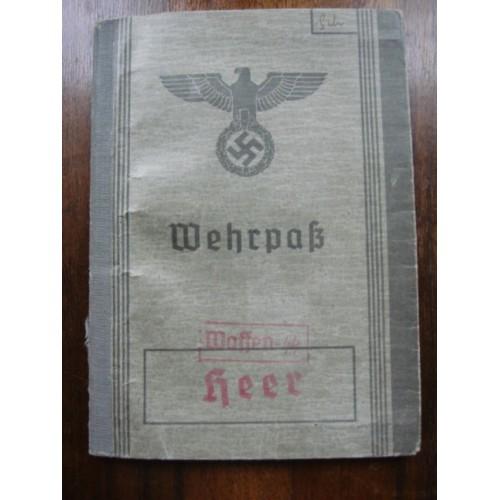 SS Wehrpass # 1439