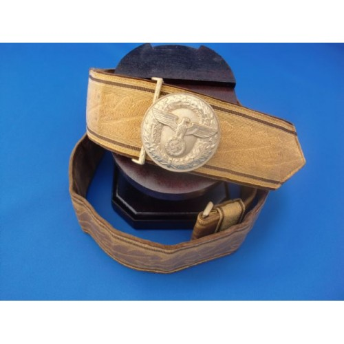 NSDAP Brocade belt and buckle # 1567