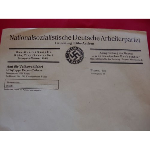 NSDAP Letterhead # 1642