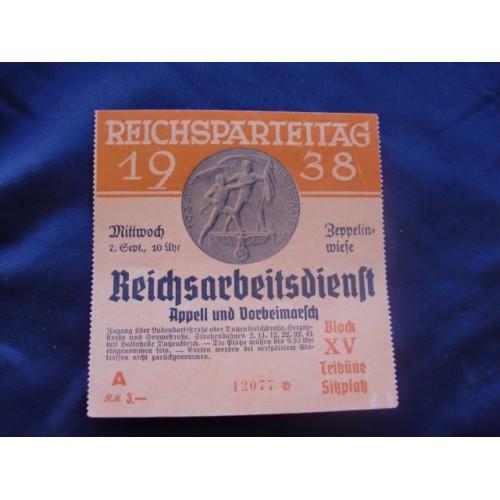 Reichsparteitag 1938 Ticket # 1659