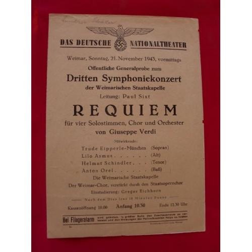 1943 Theater Program # 1663