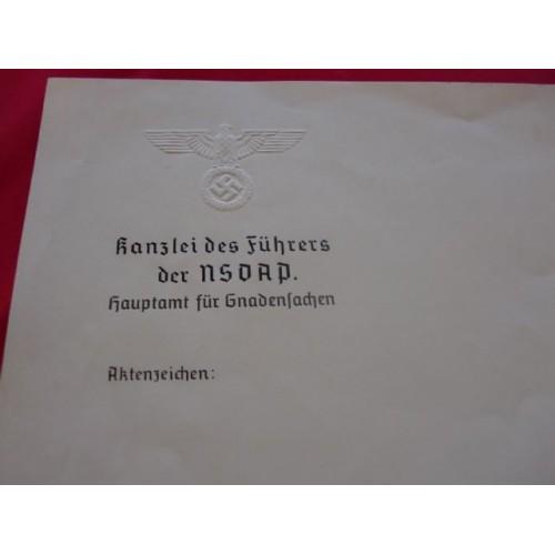 Kanzlei des Fuhrer der NSDAP Stationery # 1667