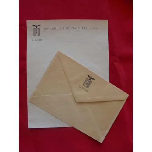 Mussolini Letterhead # 1693