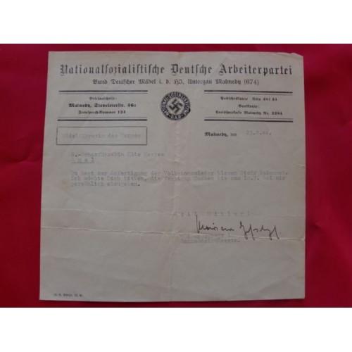 NSDAP Correspondence # 1694