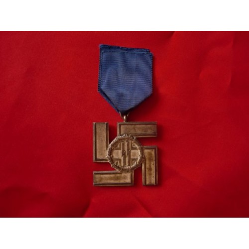 SS 12 Year Long Service Medal # 1727