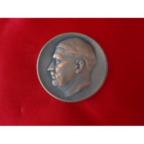 Karl Goetz Hitler Medallion  # 1835