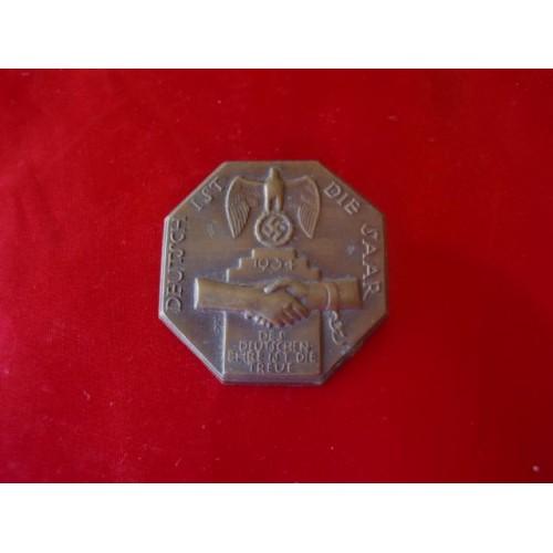 Deutsch Ist Die Saar 1934 Tinnie # 1855