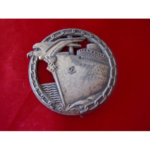 Blockade Runner's Badge # 1875