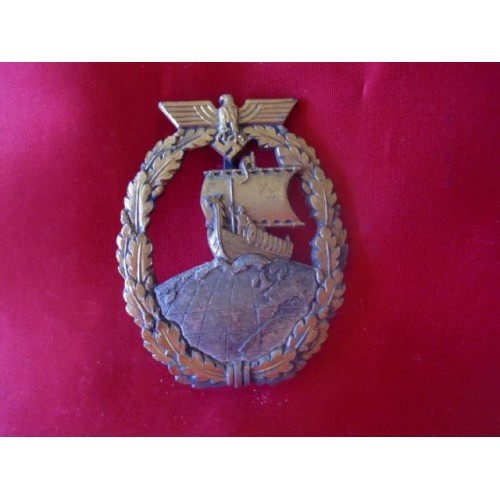 Auxiliary Cruiser War Badge # 1881