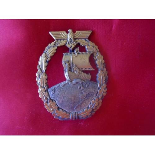 Auxiliary Cruiser War Badge # 1881
