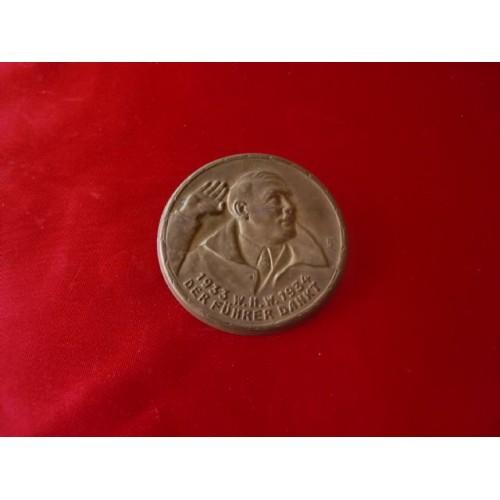 WHW Führer Dank Pin # 1922
