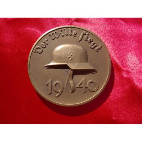 Der Wille Siegt 1940 Medallion # 2176