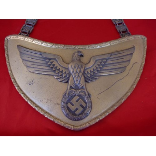 NSDAP Political Leader Flag Bearer's Gorget # 2215