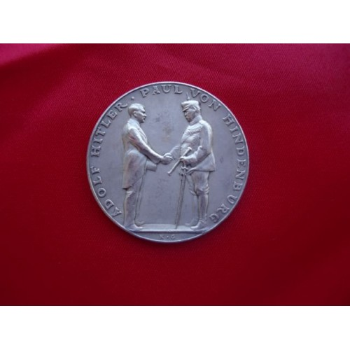 Hitler Hindenburg Medallion # 2244