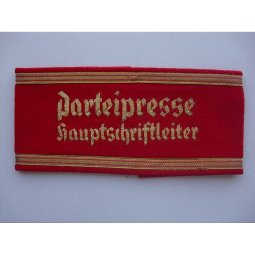 Party Press Chief Editor Armband # 2262