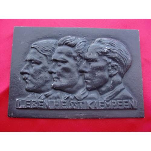 Hitler, Goering, Goebbels Plaque  # 2271
