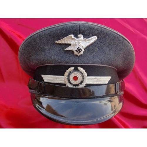 RLB / Luftschutz NCO/EM Visor # 2307
