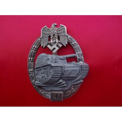 25 Panzer Assault Badge # 2309
