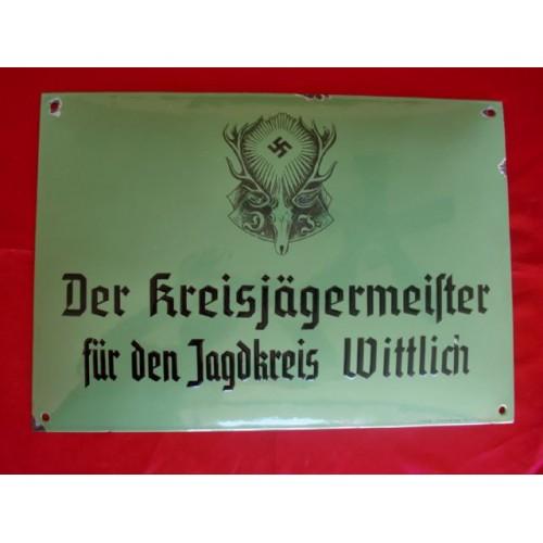 Deutsche Jägerschaft Enamel Sign # 2316