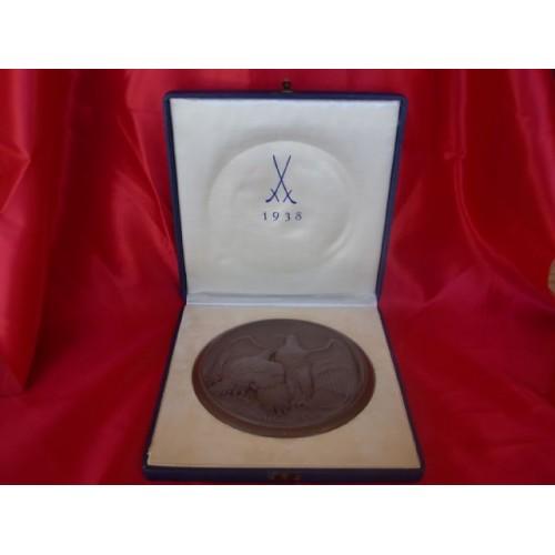 Meissen Anschluss Table Medal # 2417