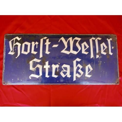 Horst Wessel Enamel Sign # 2439