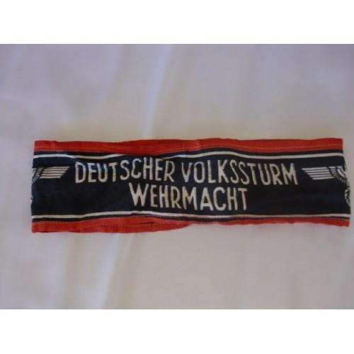 Deutscher Volkssturm Wehrmacht Armband # 2449