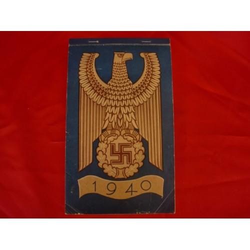 NSDAP 1940 WEEKLY CALENDAR # 2455