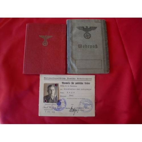Mitgliedsbuch of the NSDAP / Heer Wehrpass / PL ID Card # 2475
