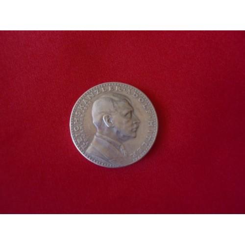 Karl Goetz Hitler Medallion   # 2478