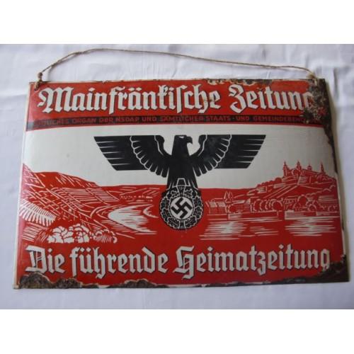 Mainfränkische Zeitung Enamel Sign # 2598
