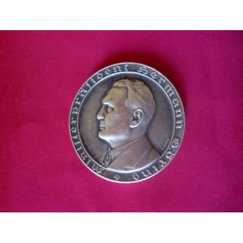 Göring Medallion  # 2651
