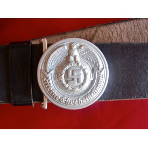 SS Officer's Belt With Buckle & Cross Strap