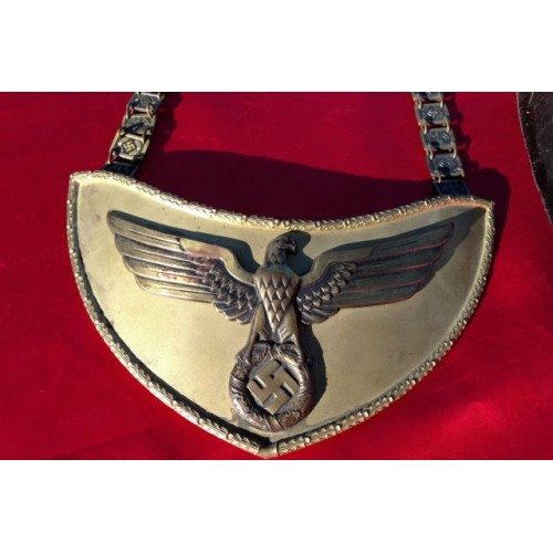 NSDAP Political Leader Flag Bearer's Gorget # 2732