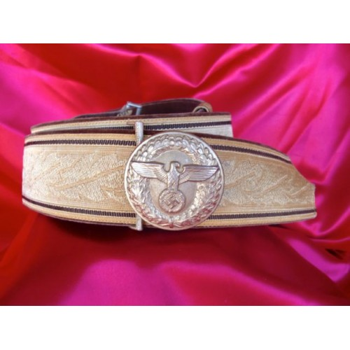 NSDAP Brocade belt and buckle # 2748