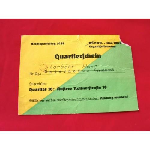 Reichsparteitag Ticket # 2809