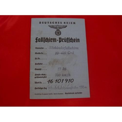 Fallschirm-Prüfschein Booklet # 2884