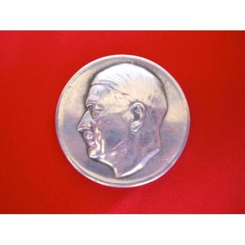 Karl Goetz Hitler Medallion   # 2891