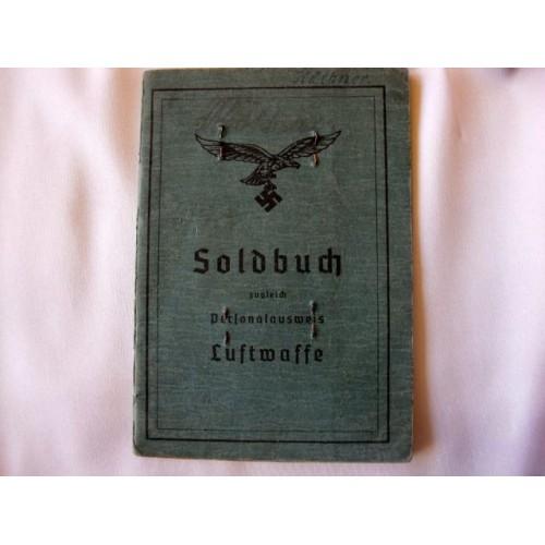 Luftwaffe Soldbuch # 2898