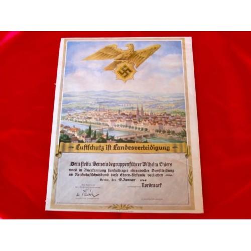 Luftschutz Document # 2910